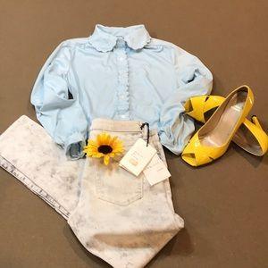 Tops - FINAL PRICE VTG blouse W/dainty scalloped detail